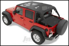 BESTOP Header Bikini Safari Version In Mesh For 2007-09 Jeep Wrangler JK Unlimited 4 Door 52581-11
