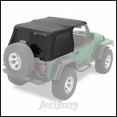 BESTOP Replace-A-Top for Trektop NX In Black Denim For 1997-06 Jeep Wrangler TJ With Trektop NX 56820 52820-15