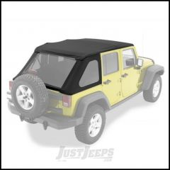 BESTOP Replace-A-Top for Trektop NX In Black Diamond For 2007-18 Jeep Wrangler JK Unlimited 4 Door Models 52823-35