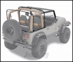 BESTOP Factory Style Hardware & Bow Kit For 1988-95 Jeep Wrangler YJ With Half Steel Doors 55004-01