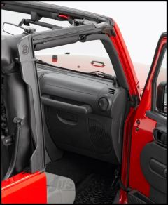 BESTOP Door Surround Kit for Cable Style Soft Tops For 2007-18 Jeep Wrangler JK 2 Door Models 55010-01