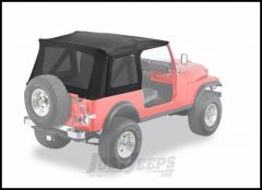 BESTOP Supertop Replacement Skin With Tinted Rear Windows In Black Denim For 1976-95 Jeep Wrangler YJ & CJ7 Models 55729-15