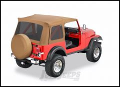 BESTOP Supertop Replacement Skin With Tinted Rear Windows In Spice Denim For 1976-95 Jeep Wrangler YJ & CJ8 Models 55729-37