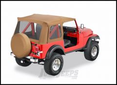 BESTOP Supertop Replacement Skin With Clear Rear Windows In Spice Denim For 1976-95 Jeep Wrangler YJ & CJ8 55799-37