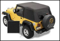 BESTOP Tinted Window Kit For BESTOP Trektop NX In Black Diamond For 1997-06 Jeep Wrangler TJ 58220-35