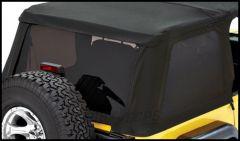 BESTOP Tinted Window Kit For BESTOP Trektop NX In Black Twill For 1997-06 Jeep Wrangler TJ 58420-17