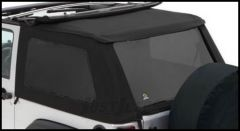 BESTOP Tinted Window Kit For BESTOP Trektop NX In Black Twill For 2007-18 Jeep Wrangler JK 2 Door Models 58422-17