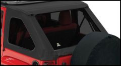 BESTOP Tinted Window Kit For BESTOP Trektop NX In Black Twill For 2007-18 Jeep Wrangler JK Unlimited 4 Door 58423-17