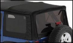BESTOP Tinted Window Kit For Factory Top & Replace-A-Top For 2007-18 Jeep Wrangler JK 4 Door Models (Black Twill) 58443-17