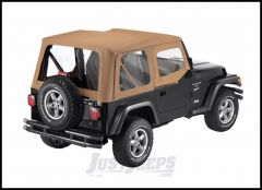 BESTOP Replace-A-Top With Half Door Skins & Clear Windows In Sailcloth Spice For 1997-02 Jeep Wrangler TJ Models 79121-37