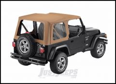 BESTOP Replace-A-Top With Clear Windows In Sailcloth Spice Denim For 1997-02 Jeep Wrangler TJ Models 79122-37