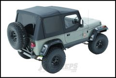 BESTOP Replace-A-Top With Door Skins & Tinted Rear Windows In Sailcloth Black For 1988-95 Jeep Wrangler YJ Models 79123-01
