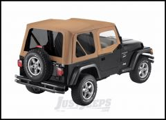 BESTOP Replace-A-Top With Half Door Skins & Tinted Windows In Sailcloth Spice Denim For 1997-02 Jeep Wrangler TJ 79124-37