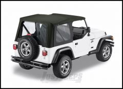 BESTOP Replace-A-Top Factory With Clear Windows For 2003-06 Jeep Wrangler TJ Fits With Factory Steel Doors & Flip 79125-35