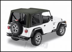 BESTOP Replace-A-Top With Tinted Windows In Sailcloth Black For 1997-02 Jeep Wrangler TJ With Factory Steel Doors 79139-01