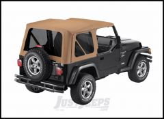 BESTOP Replace-A-Top With Tinted Windows In Sailcloth Spice For 1997-02 Jeep Wrangler TJ With Factory Steel Doors 79139-37