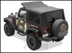 BESTOP Replace-A-Top With Tinted Rear Windows For 2010-18 Jeep Wrangler JK 2 Door Models (Black Diamond) 79146-35