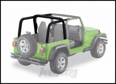 BESTOP Sport Bar Covers In Black Denim For 1997-02 Jeep Wrangler TJ 80020-15