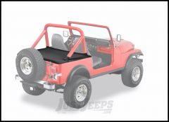 BESTOP Duster Deck Cover With Supertop Bow Folded Down In Black Denim For 1980-91 Jeep Wrangler YJ & CJ7 90003-15