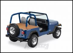 BESTOP Duster Deck Cover With Supertop Bow Folded Down In Spice Denim For 1992-95 Jeep Wrangler YJ 90008-37