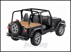BESTOP Duster Deck Cover With Supertop Bow Folded Down In Spice Denim For 1997-02 Jeep Wrangler TJ 90011-37