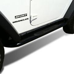 """Black Horse Offroad 3"""" Side Steps for 07-18 Jeep Wrangler JK 2-Door 9B083803A"""