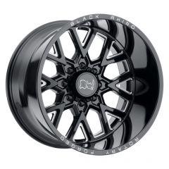 Black Rhino Grimlock Wheel in 20x9.5 with 4.54in Backspace Gloss Black with Milled Spokes for 07-20+ Jeep Wrangler JL, JK & Gladiator JT 2095GRM-85127B71