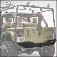 Body Armor 4X4 High Clearance Rear Bumper In Textured Black Powdercoat For 2007-18 Jeep Wrangler JK 2 Door & Unlimited 4 Door Models