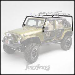 Body Armor 4X4 Roof Rack Base In Black Powder Coat For 2007-18 Jeep Wrangler JK Unlimited 4 Door Models