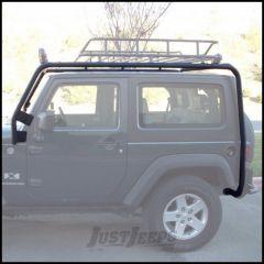 Body Armor 4X4 Roof Rack Base In Black Powder Coat For 2007-18 Jeep Wrangler JK 2 Door