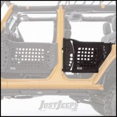 Body Armor 4X4 Rear GEN III Trail Doors In Black Powder Coat With Black Nylon Webbing For 2007-18 Jeep Wrangler JK Unlimited 4 Door Models