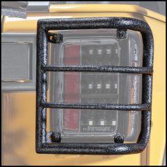 Body Armor 4X4 Wrap Design Tail Light Guards For 2007-18 Jeep Wrangler JK 2 Door & Unlimited 4 Door Models