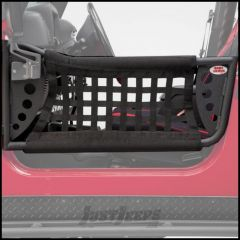Body Armor 4X4 Front GEN III Trail Doors In Black Powder Coat With Black Nylon Webbing For 1997-06 Jeep Wrangler TJ & TLJ Unlimited Models
