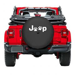 Boomerang Enterprises Jeep Paw Print Logo Tire Cover for 18+ Jeep Wrangler JL, JLU TC-JPAWS-