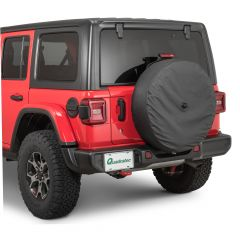 Boomerang Enterprises Spare Tire Cover in Black for 18+ Jeep Wrangler JL, JLU TC-