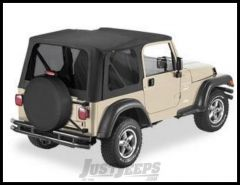 BESTOP Replace-A-Top Factory With Tinted Windows In Black Denim For 1997-02 Jeep Wrangler TJ Models 51180-15