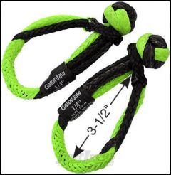 Bubba Rope Mini Gator-Jaw Soft Shackle With An 11,000 lbs. Breaking Strength (Pair)