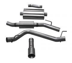Corsa Performance dB Performance Axle Back Exhaust System Touring For 2020+ Jeep Gladiator JT 4 Door Models 21062-