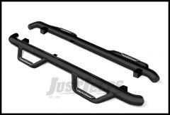 Go Rhino Sidebars Dominator II In Black Texture Finish For 2007-18 Jeep Wrangler JK Unlimited 4 Door Models
