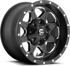 Fuel Off-Road D534 Boost Wheel in Black with Machined Accents 17x9 with 4.5in Backspace D53417902645