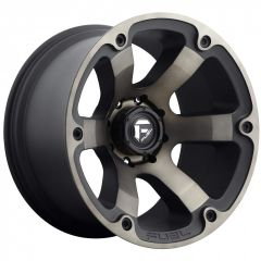 Fuel Off-Road D564 Beast Wheel In 17x9 with 4.50in Backspace Black with Dark Tint D56417907345