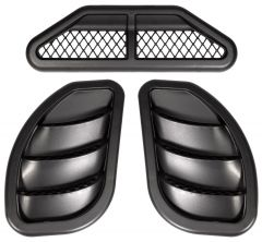 Daystar Hood Vent Bundle For 2007-18 Jeep Wrangler JK 2 Door & Unlimited 4 Door Models KJ71301BK