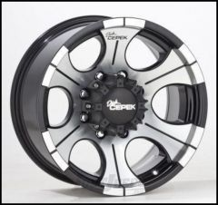 Dick Cepek DC-2 Wheel 16x8 With 5 On 5.50 Bolt Pattern In Gloss Black & Machined Finish 90000000489