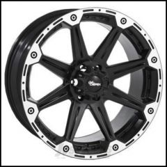 Dick Cepek Torque Wheel With 5x5.50 Bolt Pattern In Gloss Black & Machined Finish 900000001-