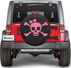 Quadratec Pirate Girl Tire Cover in Pink PIRATEGP-