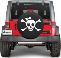 Quadratec Pirate Girl Tire Cover in White PIRATEG-