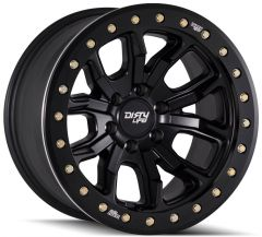 Dirty Life Race Wheels DT-1 9303 Simulated Beadlock Wheel in 17x9 with 4.53in Backspace for 07-20+ Jeep Wrangler JL, JK & Gladiator JT