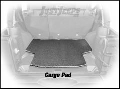 Dirtydog 4X4 Cargo Area Crash Pad For 2007-18 Jeep Wrangler JK Unlimited 4 Door Models J4PP07CO-BK