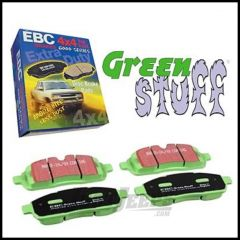 EBC Brakes Front Greenstuff 6000 Series Organic Brake Pads For 2007-18 Jeep Wrangler JK 2 Door & Unlimited 4 Door & Liberty KK DP61798