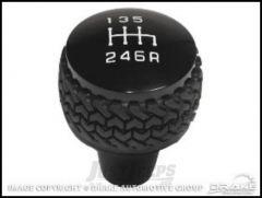 Drake Off Road Black Billet Aluminum 6 Speed Manual Shifter Knob For 2011+ Jeep JK 2 Door & Unlimited 4 Door D-JP-181112-BK